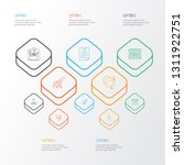 festival icons line style set... | Shutterstock .eps vector #1311922751