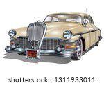 retro car isolated on white... | Shutterstock .eps vector #1311933011