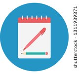 diary color isolated vector... | Shutterstock .eps vector #1311939371