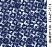 shibori tile check graphic... | Shutterstock . vector #1311940841