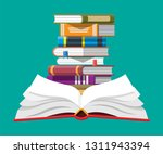 open book with an upside down... | Shutterstock .eps vector #1311943394