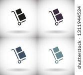 handcart vector icon   Shutterstock .eps vector #1311944534