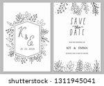 wedding invitation template... | Shutterstock .eps vector #1311945041