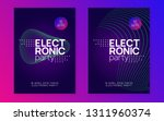 music poster. futuristic... | Shutterstock .eps vector #1311960374