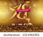 18 years anniversary logo... | Shutterstock .eps vector #1311962501