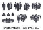 people crowd team symbol icons | Shutterstock .eps vector #1311963167