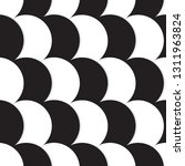 white and black circles... | Shutterstock .eps vector #1311963824