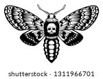 death's head hawk moth with... | Shutterstock .eps vector #1311966701