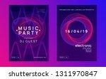 dance flyer. dynamic gradient... | Shutterstock .eps vector #1311970847
