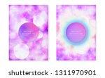 purple background with liquid...