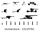 Vector Silhouettes Of Cannons ...