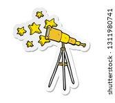 sticker of a cartoon telescope | Shutterstock .eps vector #1311980741