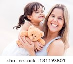 mother and daughter portrait... | Shutterstock . vector #131198801