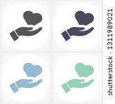 heart in hand icon | Shutterstock .eps vector #1311989021