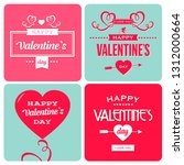 valentines day invitation cards | Shutterstock .eps vector #1312000664
