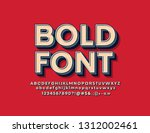 vector bold font. bright 3d... | Shutterstock .eps vector #1312002461