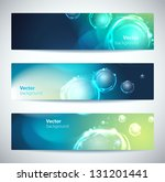 set of abstract vector banners... | Shutterstock .eps vector #131201441