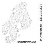 abstract scandinavia map... | Shutterstock .eps vector #1312021697