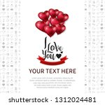 i love you concept design with... | Shutterstock .eps vector #1312024481