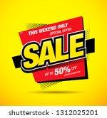 sale banner layout design | Shutterstock .eps vector #1312025201
