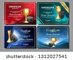 ice hockey game certificate... | Shutterstock .eps vector #1312027541