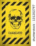 Danger Sign With Skull. Vector...