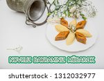 novruz holiday poster with... | Shutterstock . vector #1312032977