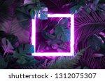 creative fluorescent color... | Shutterstock . vector #1312075307