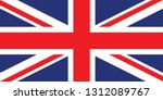 united kingdom flag | Shutterstock .eps vector #1312089767
