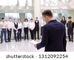 briefing at the restaurant. the ... | Shutterstock . vector #1312092254
