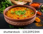 indian dal. traditional indian... | Shutterstock . vector #1312092344