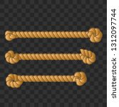 nautical rope. round and square ... | Shutterstock .eps vector #1312097744