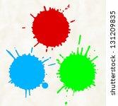 paint splats | Shutterstock .eps vector #131209835