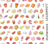 food images. background for... | Shutterstock .eps vector #1312099577