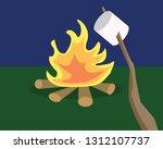 vector illustration night... | Shutterstock .eps vector #1312107737