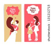 happy mother's day. banners of... | Shutterstock .eps vector #131212715