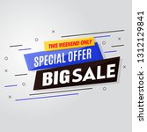 special offer big sale banner... | Shutterstock .eps vector #1312129841