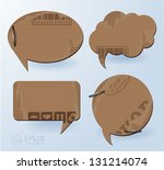 cardboard speech bubbles.... | Shutterstock .eps vector #131214074