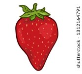 vector cartoon red strawberry | Shutterstock .eps vector #1312164791