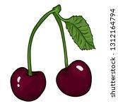 vector cartoon illustration  ... | Shutterstock .eps vector #1312164794