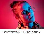 fashion pretty woman with... | Shutterstock . vector #1312165847