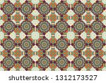 each square of the pattern is... | Shutterstock . vector #1312173527