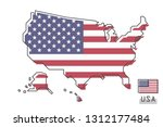 united states of america map... | Shutterstock .eps vector #1312177484