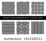 set of seamless patterns with... | Shutterstock .eps vector #1312183211