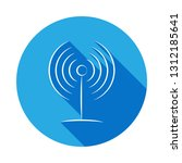 radio antenna icon. signs and...