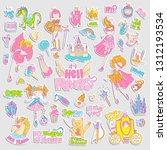brave tomboy hell princess... | Shutterstock .eps vector #1312193534