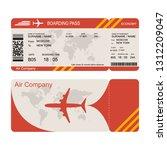 plane ticket template. air...   Shutterstock .eps vector #1312209047