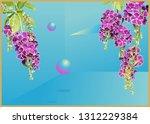 vintage retro tropical duranta... | Shutterstock .eps vector #1312229384