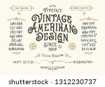 font vintage american design.... | Shutterstock .eps vector #1312230737