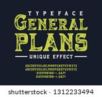 font general plans. crafted...   Shutterstock .eps vector #1312233494